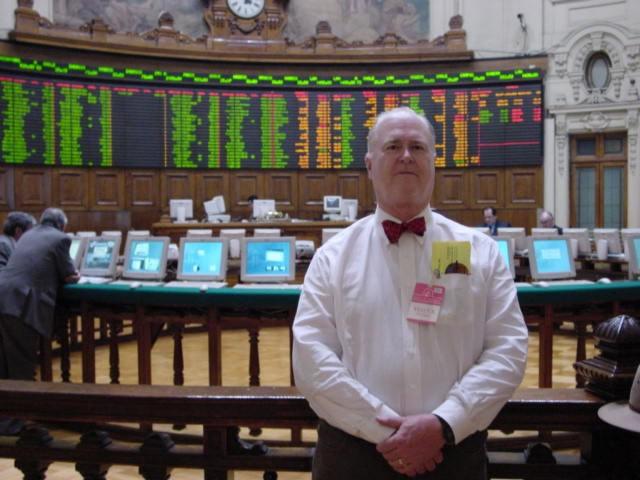 Bullish Bob at Santiago Stock Exchange